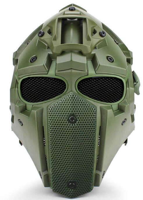 WoSporT NEW Breathe Free Tactical OBSIDIAN GREEN GOBL TERMINATOR Cycling Helmet Mask Plus Hunting Accessories Paintball Sport until i breathe until i breathe геноцид