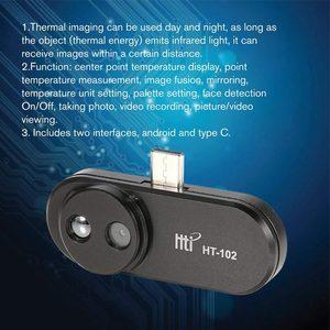 Image 2 - HT 102 теплообнаружение мобильный телефон Инфракрасный Тепловизор внешняя инфракрасная камера термометр Android адаптер с функцией OTG