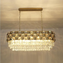 New crystal chandelier gold stainless steel lamp modern led chandelier lighting for living luxury Oval lamp shixnimao luxury electric crystal chandelier 6arm 8arm 10arm 15arm crystal lamp crystal chandelier