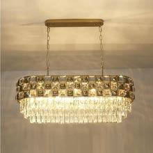 New crystal chandelier gold stainless steel lamp modern led lighting for living luxury Oval
