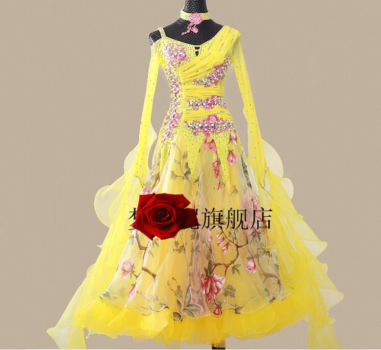 Ballroom Dancing Dress Woman Modern Waltz Tango Dance Dress standard Ballroom Competition Costume black MD599