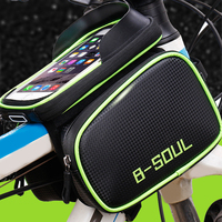 Bicycle Frame Bag Bike Cell Phone Tube Bag Cycling Front Bag Case MTB Waterproof