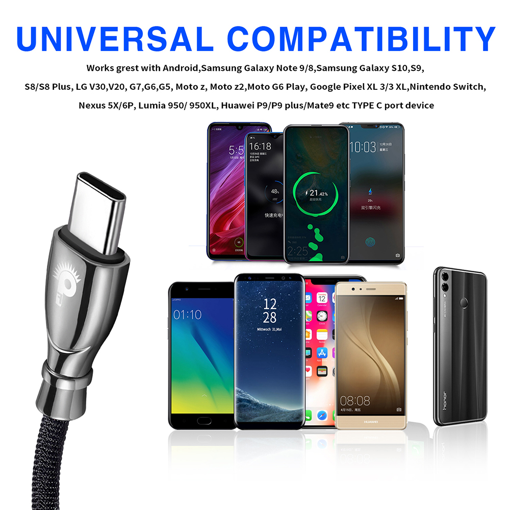 Special Offer] Punnkfunnk 50Pack Reversible Type C Cable