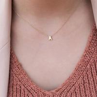 Ahmed nouveau Simple or argent couleur A-Z 26 lettres pendentif colliers pour les femmes bricolage nom collier ras du cou bijoux cadeaux de fête
