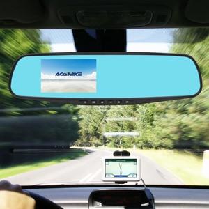 Image 4 - AOSHIKE 3.5 Pouces Tactile HD 720 P Voiture Rétroviseur Enregistreur Enregistrement Unique Affichage De Voiture DVR Véhicule Caméra TFT LCD avec GPS