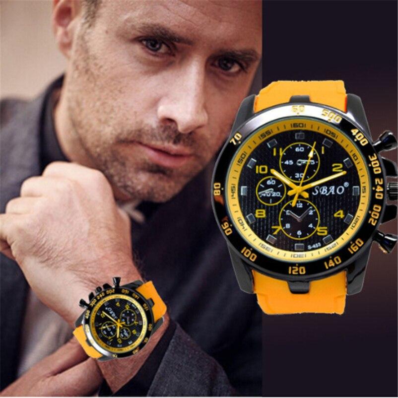 Mens Sports Watches Relogio Masculino Hot Sale Men Silicone Strap Quartz Watch Reloj S Shockproof Electronic Wristwatch 2019