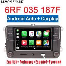 Noname 6rf 035 187f rcd330 além de carro android r340g rcd 330 rcd330g carplay para vw tiguan golf 5 6 mk5 mk6 passat polo