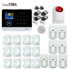SmartYIBA Wireless WiFi Home Business Security Burglar Alarm System Fire Smoke Detector Wireless Siren French Russian Polish APP