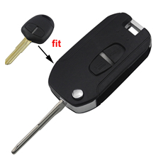 jingyuqin Modified 2 Button Remote Car Key Shell for Mitsubishi Lancer Grandis Evolution Outlander Key Case Fob Right/Left Blade replacement 2 buttons remote key case shell for mitsubishi lancer iv v vi vii viii ix ct9a grandis outlander blank key case fob