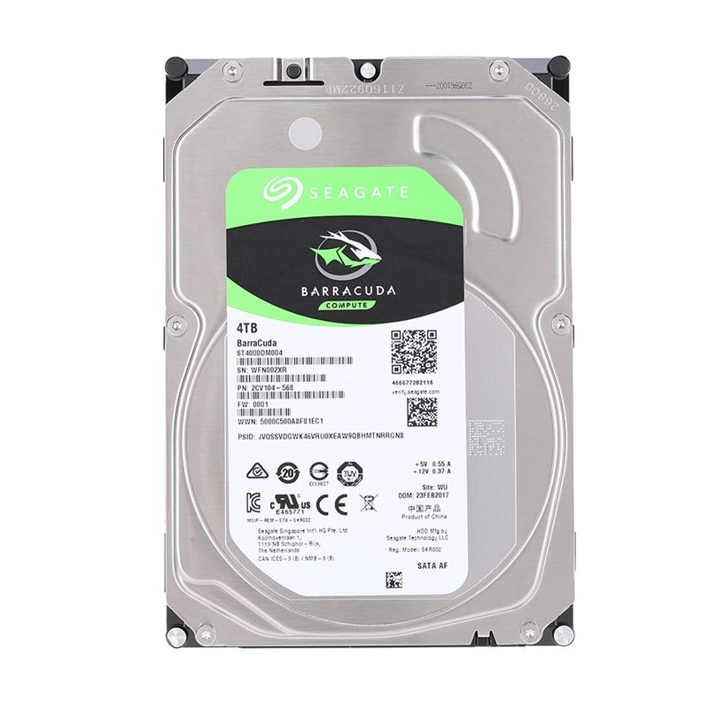 Seagate TB 4 Desktop HDD Internal Hard Disk Drive 5900 RPM SATA 6 Gb/s 256MB de Cache 3.5 polegada HDD unidade de Disco Rígido Para Computador ST4000DM004