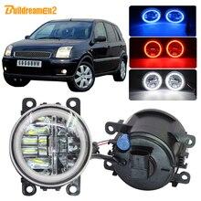 Buildreamen2 Car 4000LM Fog Light Lamp LED Angel Eye DRL Daytime Running Light H11 12V For