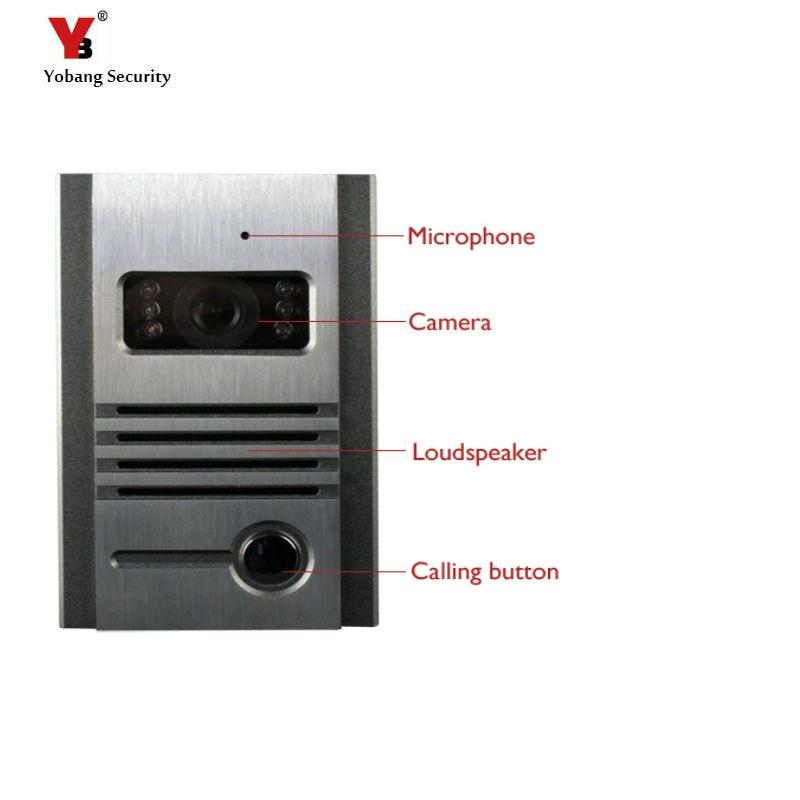 Yobang Security Freeship Night Vision Outdoor Intercom Camera Metal Outdoor Unit For Doorphone Free Combination font
