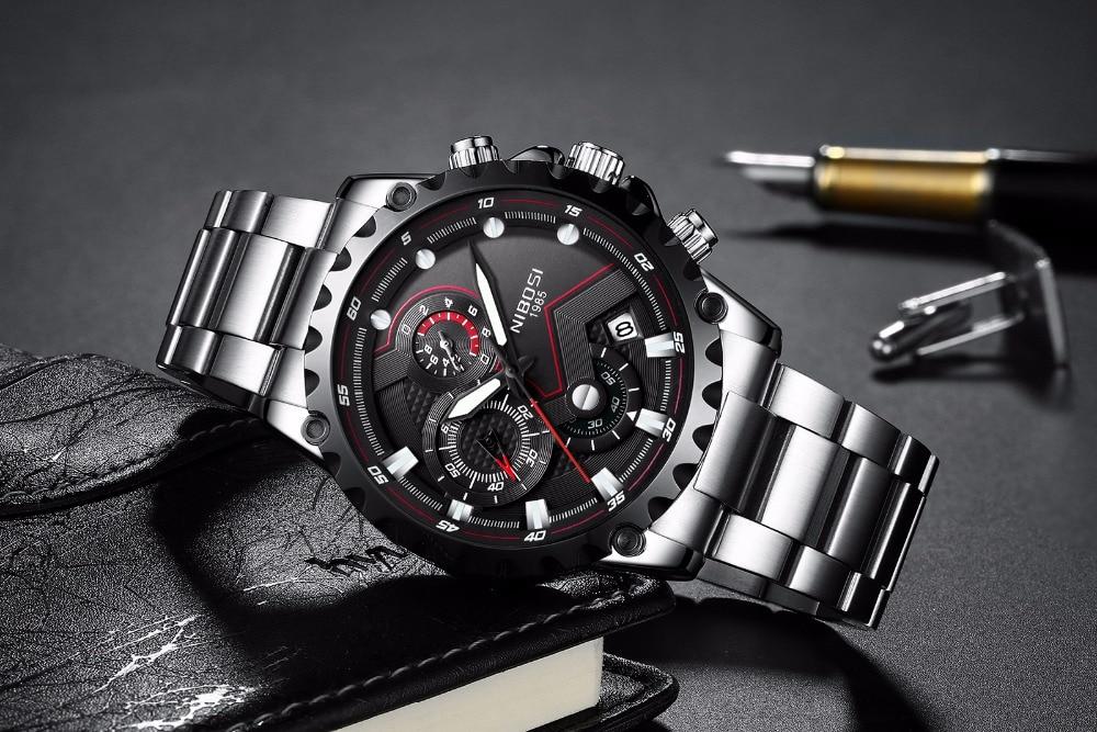 NIBOSI Men s Watches Men Top Luxury Brand Sport Military Chronograph  Waterproof Clock Man Wrist Watch Hodinky Relogio Masculino 80460213bc3