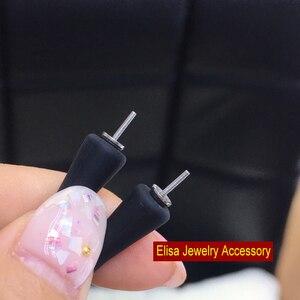 Image 3 - 16cm 17cm 18cm 20cm 黒シリコンブレスレットアクセサリーシリコーン材料のためのタヒチ真珠女性 DIY 真珠のブレスレット Acc