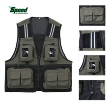 Outdoor Sport Men's Fishing Vest Multi Pocket V-neck Waterproof Breathable Director Photojournalist Clothes 4 Colors X/XL/XXL
