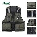 Outdoor Sport Men's Fishing Vest Multi Pocket V-neck Waterproof Breathable Director Photojournalist Clothes 4 Colors X/XL/XXXL