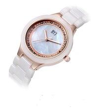 2017 Girls's Style Watch Greatest Promoting Quartz ceramic Wristwatch Analog Crystal Dial Czech Rhinestone Watches Girls h251
