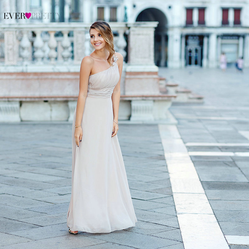 Ever Pretty One Shoulder Chiffon Evening Dresses Party Royal Blue Elegant Formal Evening Gown EP09596 Free shipping abendkleider