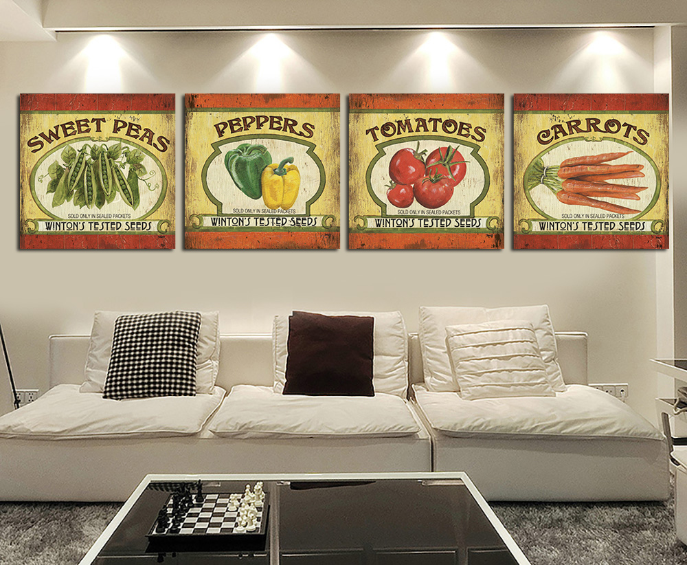 Oil painting the poster about Tomatoes and peppers wall picture paint on canvas for house bar wall stickers decor RZ-BB021