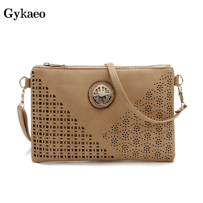 Gykaeo Envelop-Bags Clutch-Shoulder-Bag Small Female Hollowed-Out Evening Casual Women