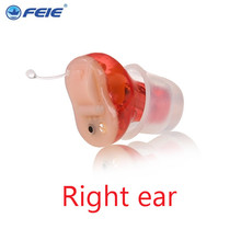 Deafness People Products Noise Reduction Super Sound Quality Invisible Mini Ear Zoom Digital ITC Hearing Aid S-10A right ear