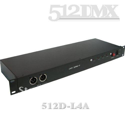 ФОТО 4 Way DMX Splitter;Size: 482 x 147 x 44mm (19