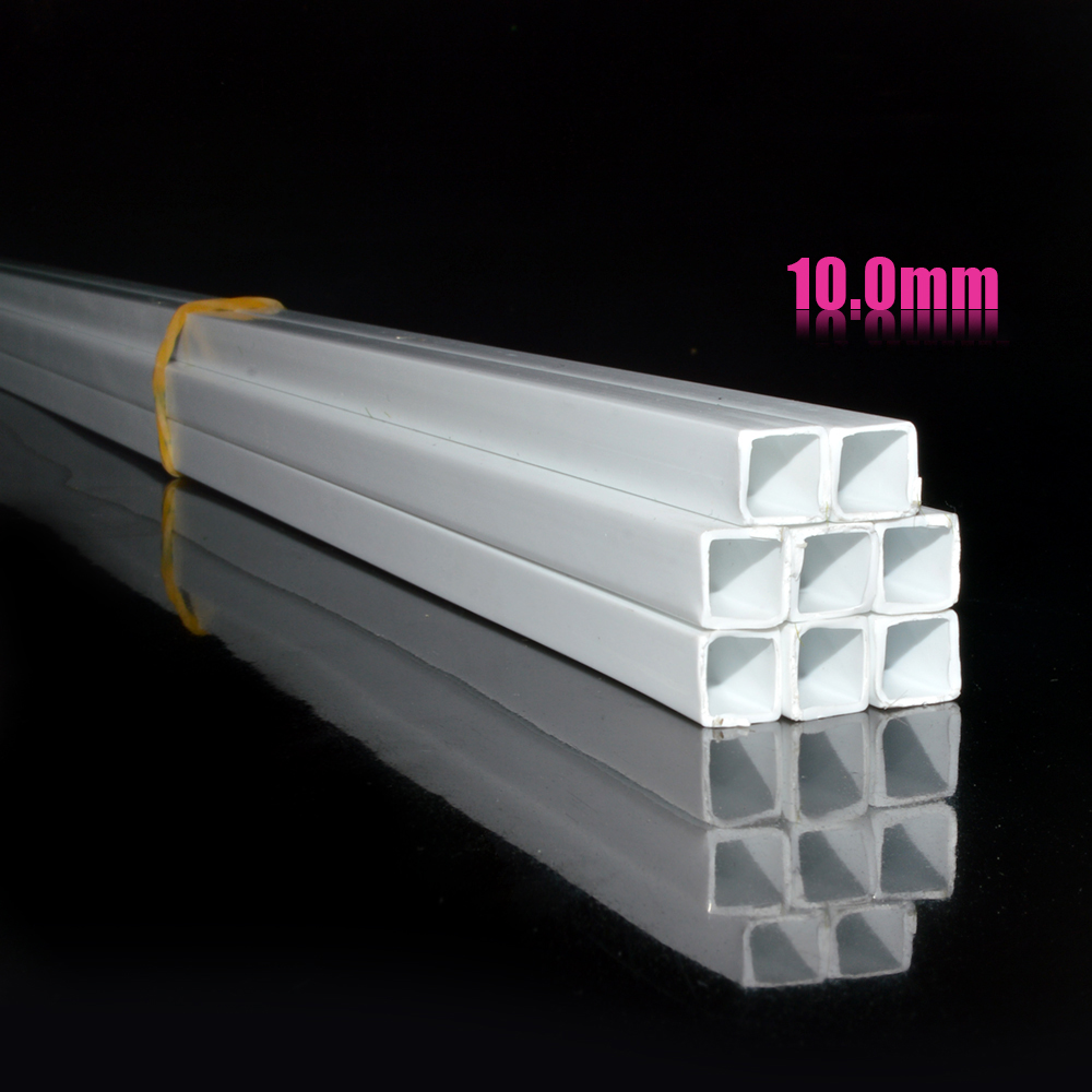 10mm Architecture building model Square tube ABS Plastic pipe 50cm length