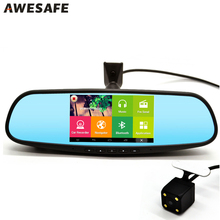 "5"" Special Android Car DVR Mirror Monitor with Original Bracket FHD 1080P Dash Camera Parking Rearview mirror Video Recorder GPS"