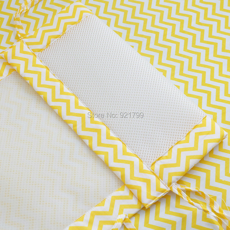 1 ST Lange Katoen / Polyester Zomer Pasgeboren Wieg Bumper Veiligheid - Beddegoed - Foto 6