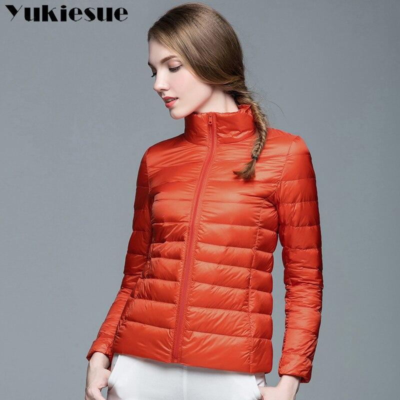 2017 New Brand Ladies Winter Warm Coat Women Light 90% White Duck Down Jacket Womens Parka Female Jackets woman outwear