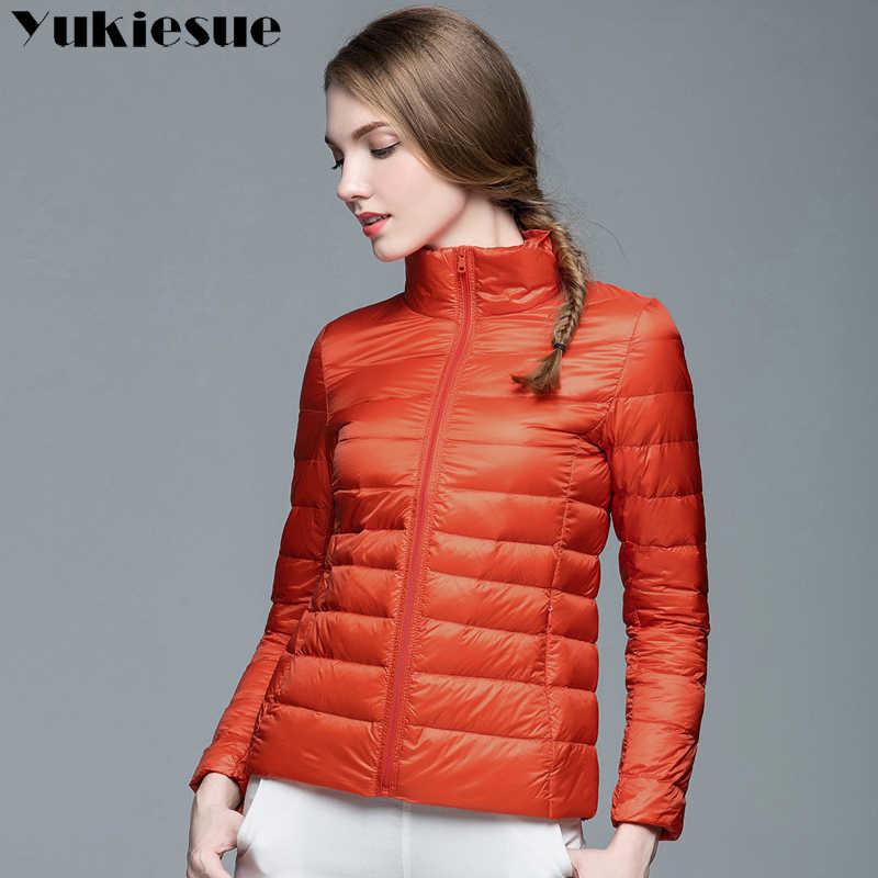 a25e8676424 Новинка 2017 года Брендовые женские зимние теплые пальто для женщин свет  90% белая куртка на