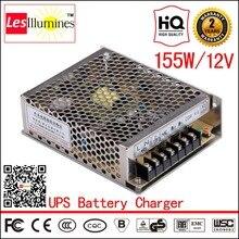 AC DC 12V 10A External Car Battery Charger for UPS-12V Battery CE ROHS 155W CCTV 12V Power Supply Battery with Charger 12V 13.8V