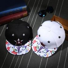 Модная Звезда D вышивка кепки в стиле хип-хоп для женщин мужчин и мальчиков шляпа Печать Искусство Snapback шапки женские хип хоп шляпы солнцезащитные, кепки BKX509