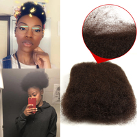 Remy Forte Mongolian Kinky Curly Bulk Human Crochet Braids Hair No Weft 1 PC 50 G/Bundles Bulk Hair For Braiding Natural Color