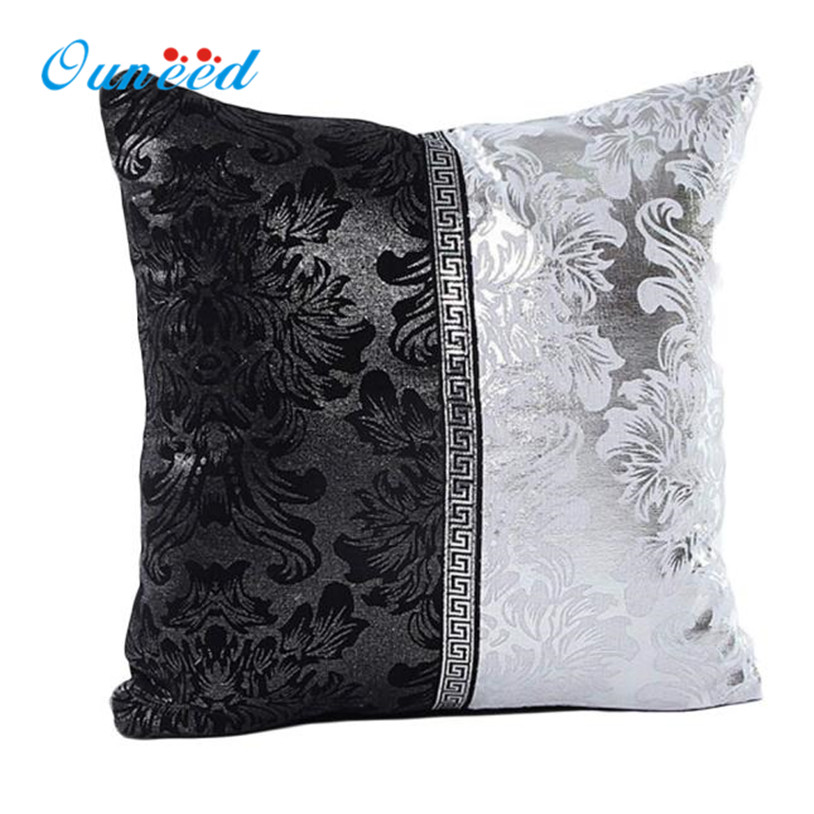 Aliexpress.com : Buy Ouneed Vintage Black Silver Throw Pillow Case Cushion Cover Sofa Home Car ...