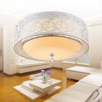 Спальня лампа светодио дный потолочный светильник теплый романтический свадебный номер лампа современный круглый минималистский гостино