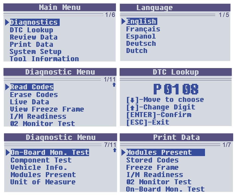 NEW!ODB OBD2 Scanner KONNWEI KW590 OBD2 Car Diagnostic Scanner Multi ...