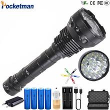 80000 Lumens 8800mA Battery LED Flashlight High Power 15 x XM-T6 XHP70.2 5 Modes Electricity Display Lanterna Torch Waterproof