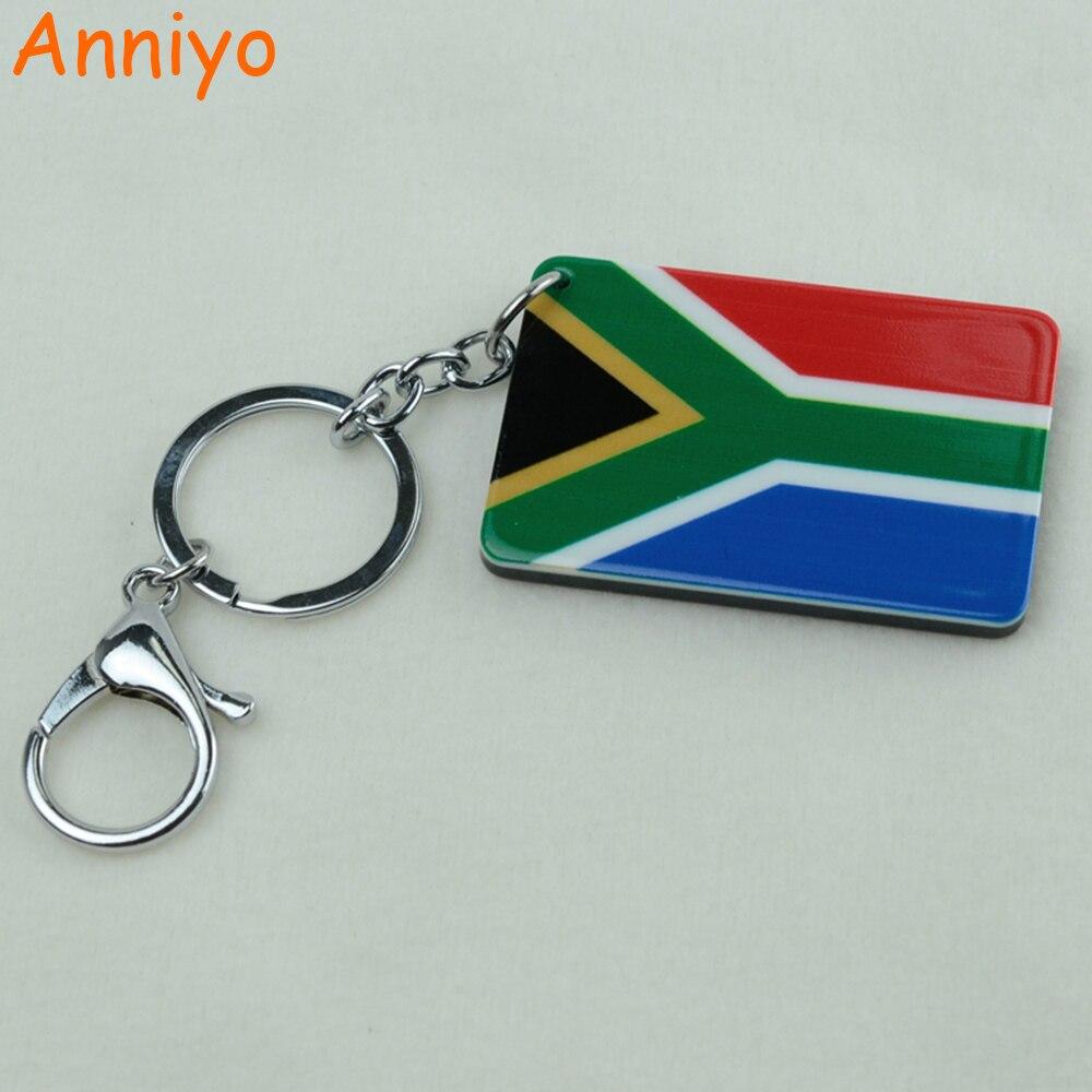 Anniyo South Africa Flag Key Chains Jewelry Afrikander Keychain