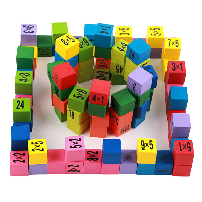 Baby Wooden Toys 1 Pack Multiplication Table Math Teaching Aids Early Educational Digital Calculate Board Montessori Math Toys