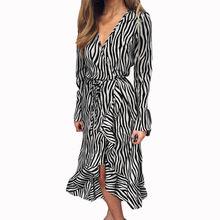 Женское шифоновое платье туника с длинным рукавом и высокой