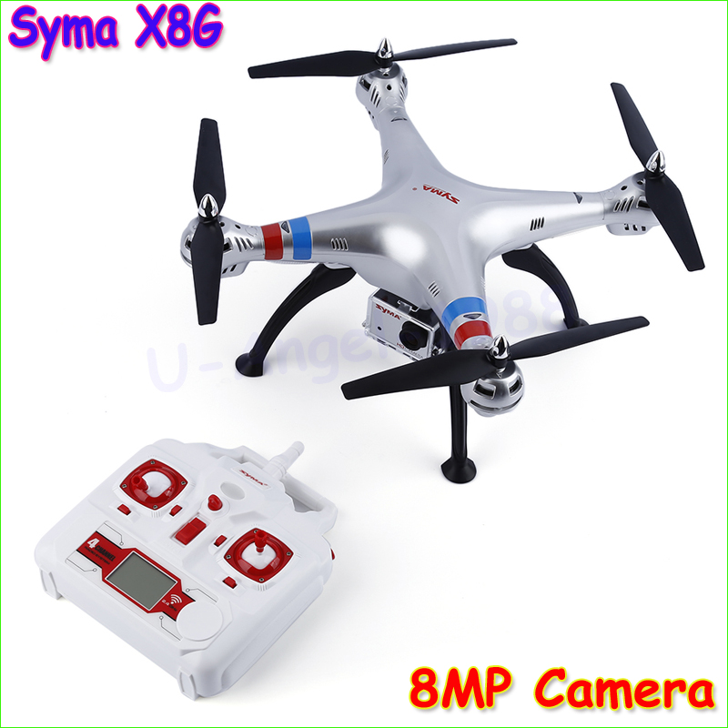 купить SYMA X8G RTF 2.4GHz 6 Axis RC helicopter camera drone with 8.0MP Camera 3D Remote Control Upgrade X8C X8W FPV Drone по цене 9889.67 рублей