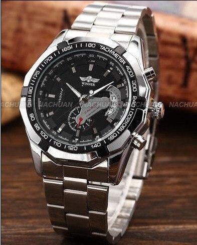 2018 Fashion Men montre Winner Brand horloges mannen Stylish Skeleton Classic Automatic relogios clock men Mechanical Watch 4