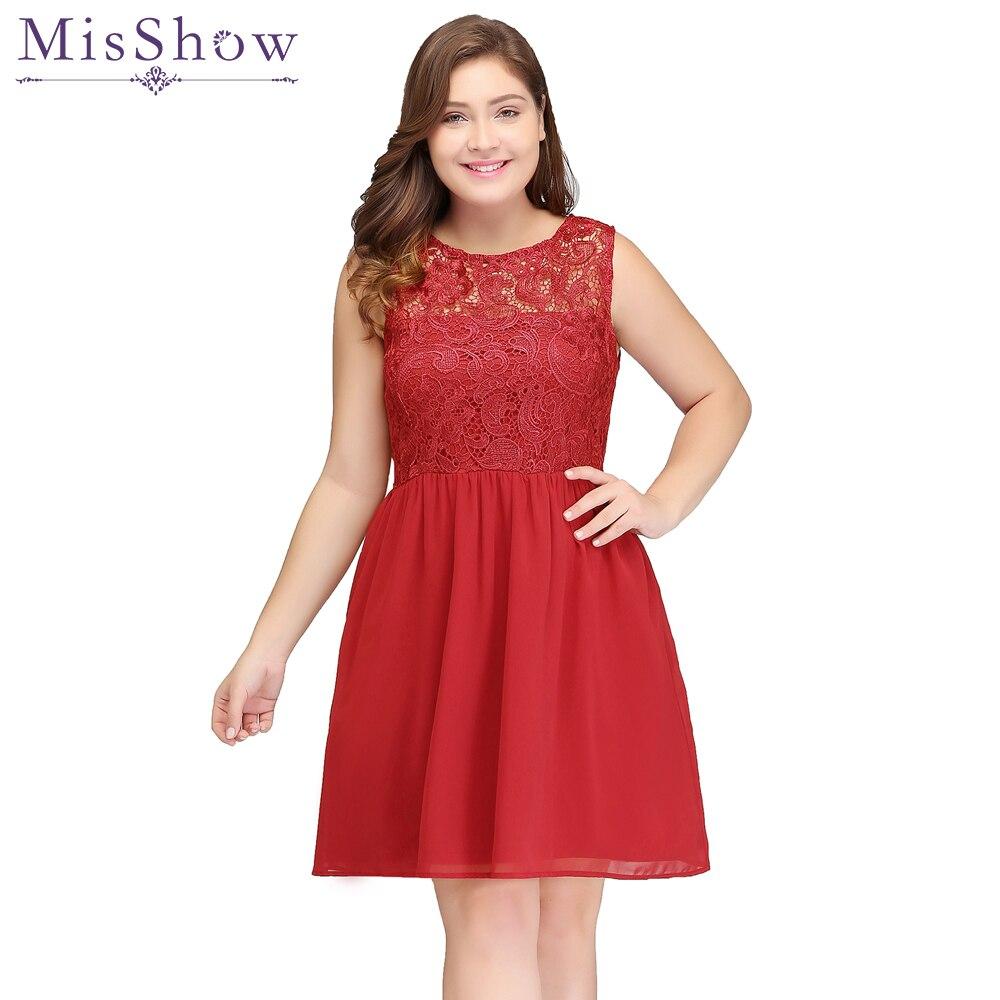 elegant prom dresses plus size Cheap Mini A line Red Short Prom ...