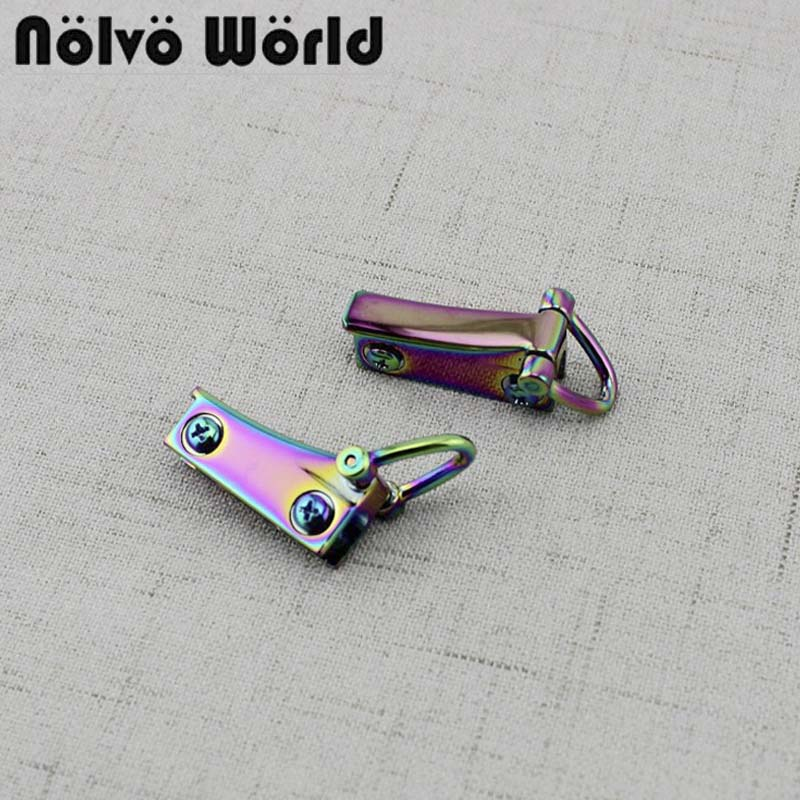 10-40 Pieces,Anodized Rainbow Finished 32*10mm DY Purse 2 Side Clips Bags Purse Gusset Clasp Hardware