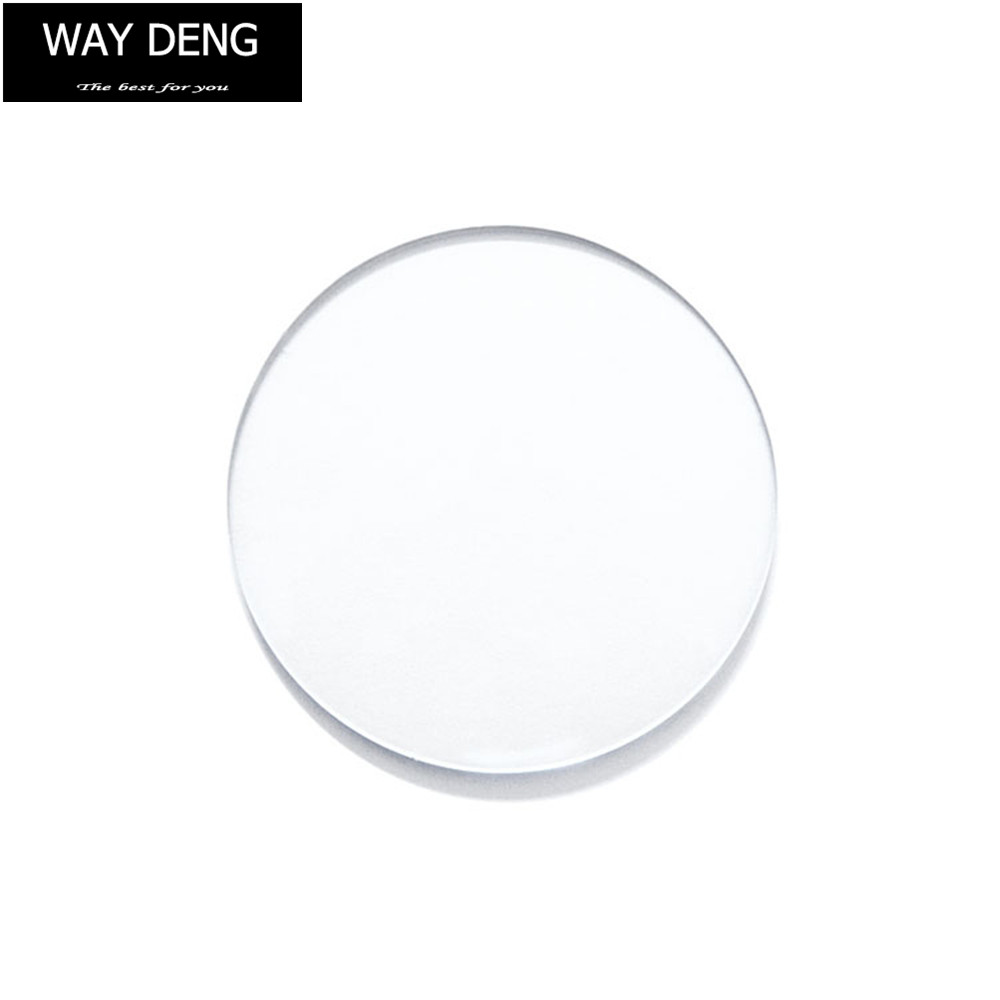 1 Piece Clear Watch Glass Cover (Thickness 1mm) Round Crystal Glass Part Watch Repair Kit Size 15mm - 45mm