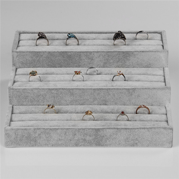 gray velvet jewelry display tray for ring display holder show case new arrival