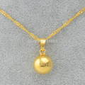 Gold Ball Pendants & Necklaces for Women,- Gold Plated Bead Necklaces Trendy Jewelry,Round Beads Pendant for Girls