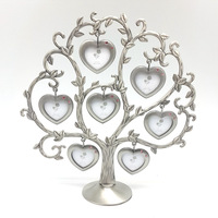 Hot Sale Happiness Family Tree Metal Photo Frame Fashion Wedding Gift DIY Picture Frame Home Decoration