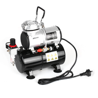 KKmoon Spray Gun Airbrush Compressor with Tank 1/6 HP Piston Air Compressor Oil less Quiet High pressure Pump Tattoo Manicure